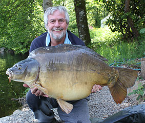 A 56lb 2oz mirror which tested my gear to the limits